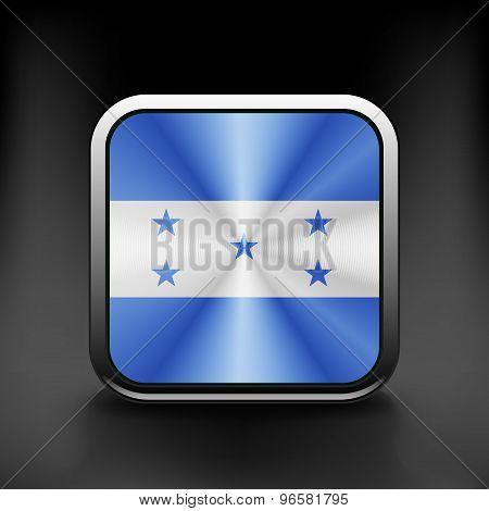 Honduras icon flag national travel icon country symbol button