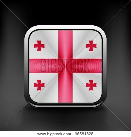 Georgia icon flag national travel icon country symbol button