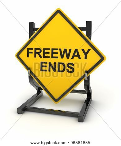 Road Sign - Freeway Ends