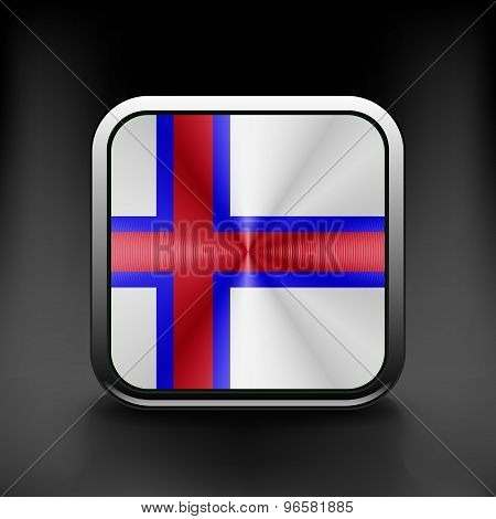 Faroe Islands icon flag national travel icon country symbol button