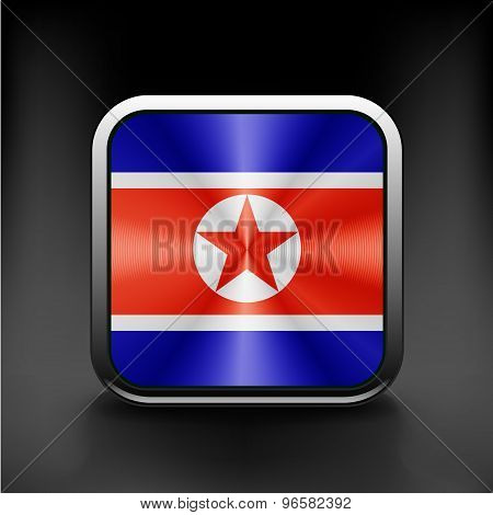 Fabric Flag of North Korea sign symbol icon country