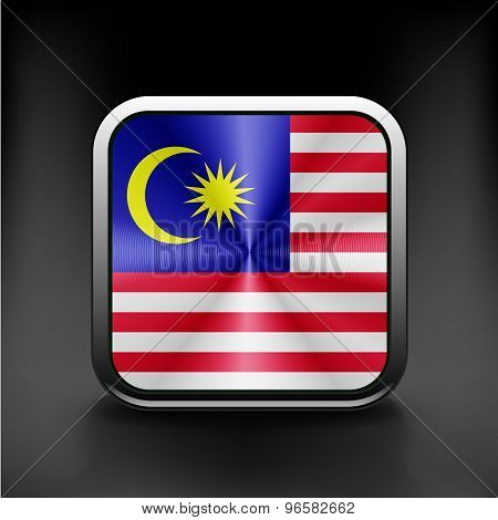 original and simple Malaysia flag isolated official colors
