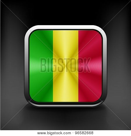 An Illustrated Drawing of the flag of Mali