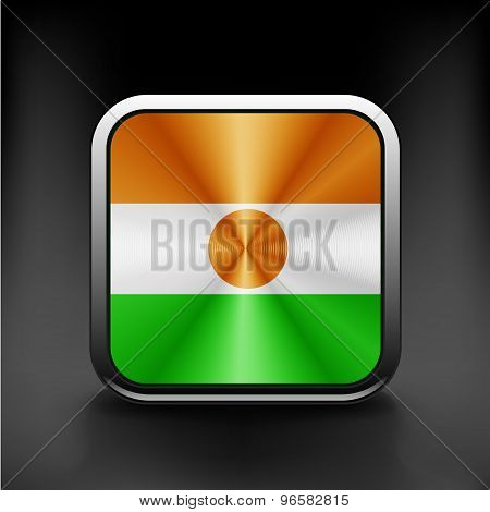 original and simple Republic of Niger flag isolated vector