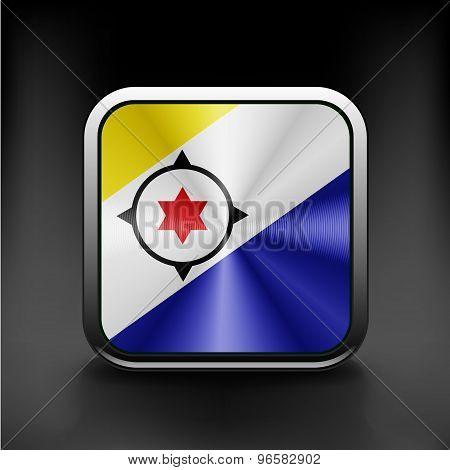 flag Bonaire flag national travel icon country symbol
