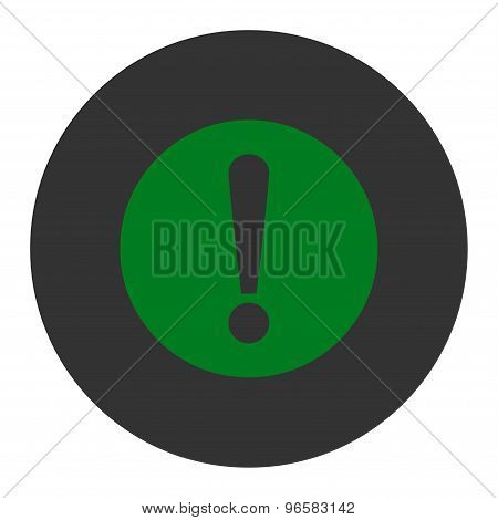 Problem flat green and gray colors round button