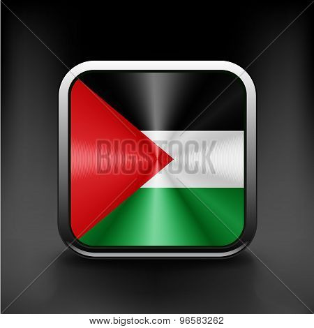 Flag of Palestine. Vector. Accurate dimensions, element proportions and colors.