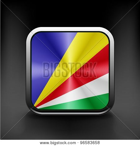 original and simple Seychelles flag isolated vector