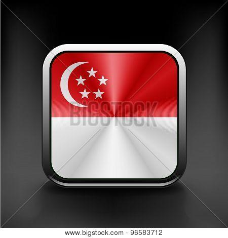 original and simple Republic of Singapore flag