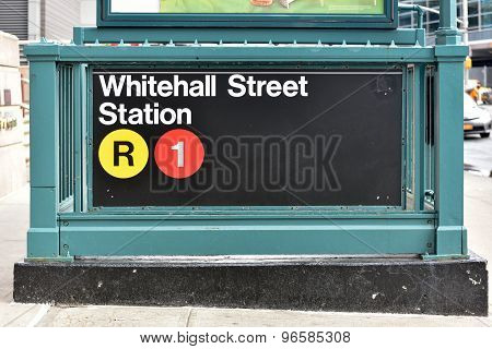 Whitehall Street Subway Station