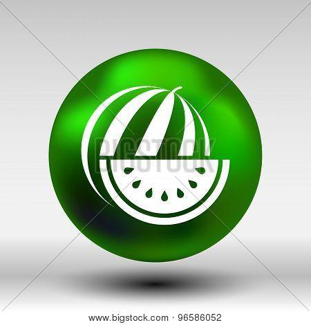 watermelon icon logo natural delicious dessert sweet