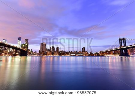 Brooklyn Bridge And Manhattan View