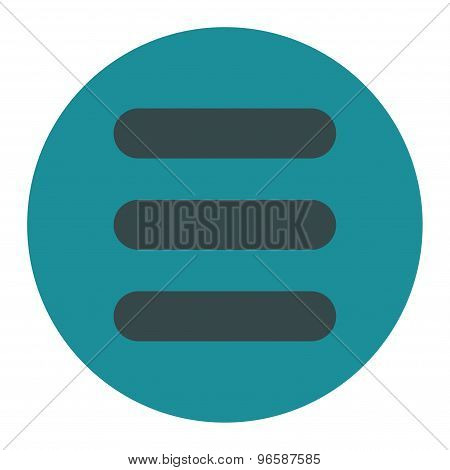 Stack flat soft blue colors round button