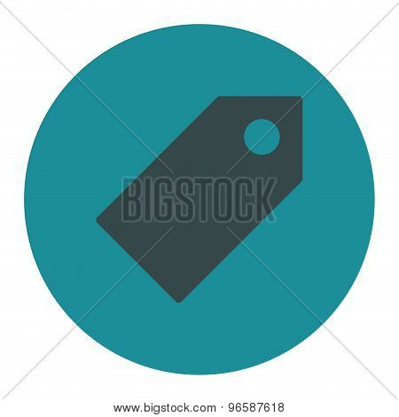 Tag flat soft blue colors round button