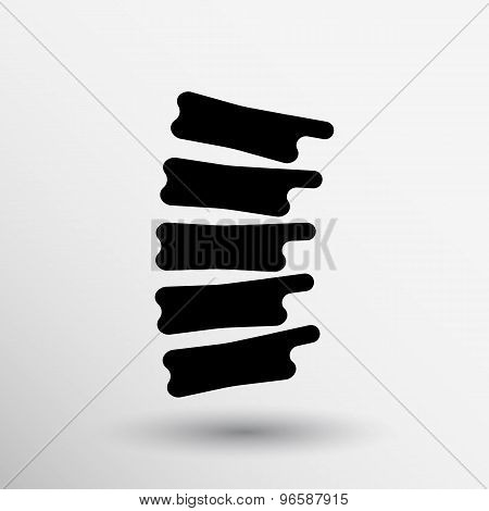 Spine diagnostics symbol design spine icon vector