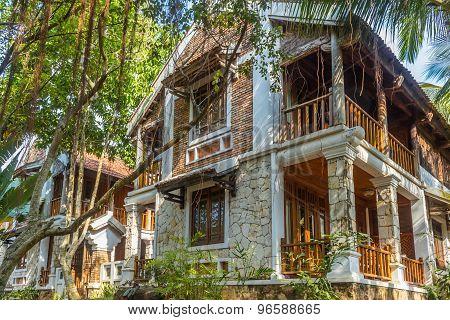 Tropical Hotel In Jungle
