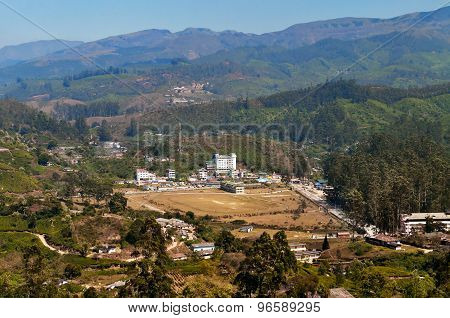 View Of  Munnar From Tea Plantation Valley
