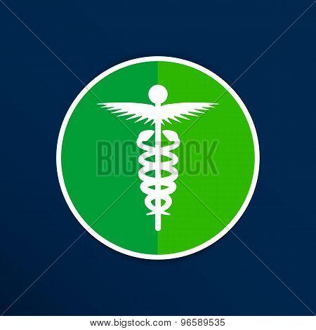 medicine icon logo symbol snake caduceus doctor