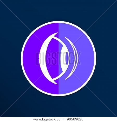 Eye icon vision view vector look see sight symbol