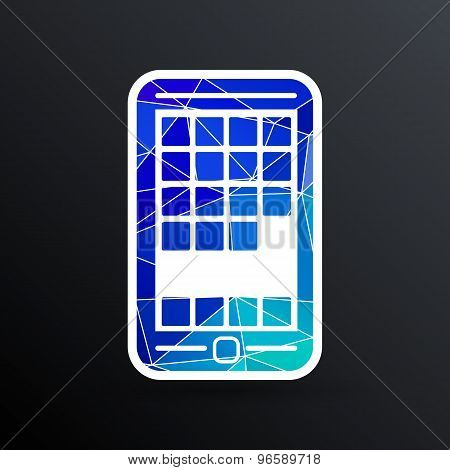 app phone icons the website isolated speech opening