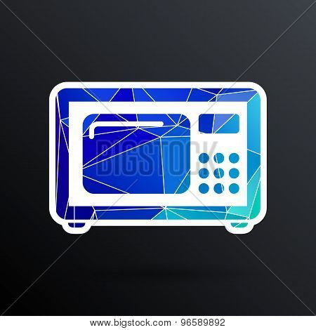 microwave icon kitchen equipment electronics symbol llustration