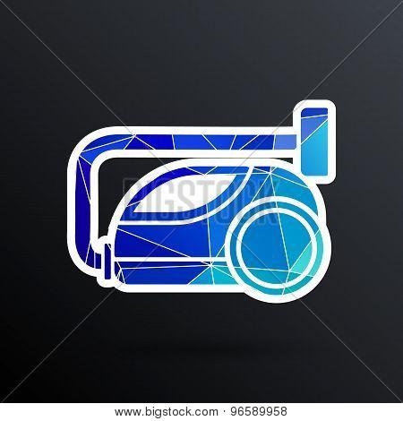 vector black cleaner icon vacuum symbol electric
