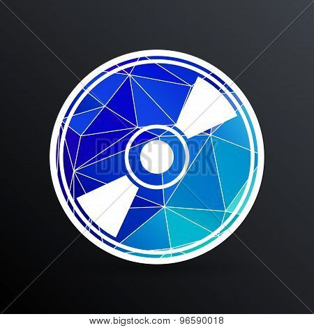 Vector CD or DVD icon disc vector compact disk
