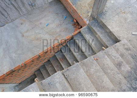 Staircase In Residential Building Construction Site