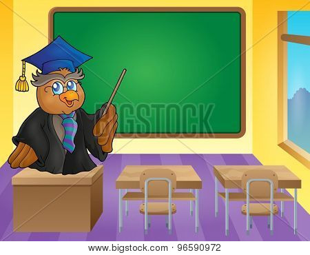 Owl teacher theme image 9 - eps10 vector illustration.