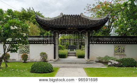 Atmosphere of Chinese garden