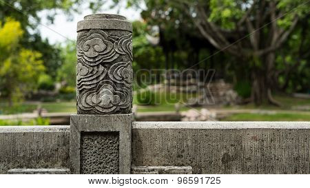Stone wall in Chinese garden