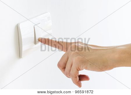Finger Press On Light Button