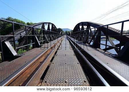 Historic bridge on river kwai