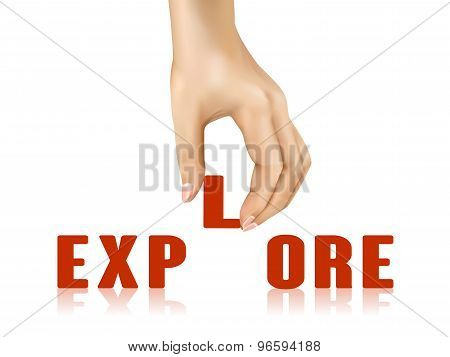 Explore Word Taken Away By Hand