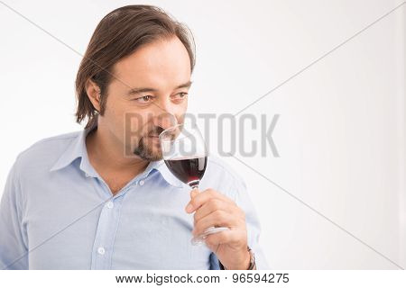 Middle-aged Sommelier