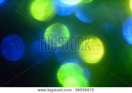 Colorful bokeh lights