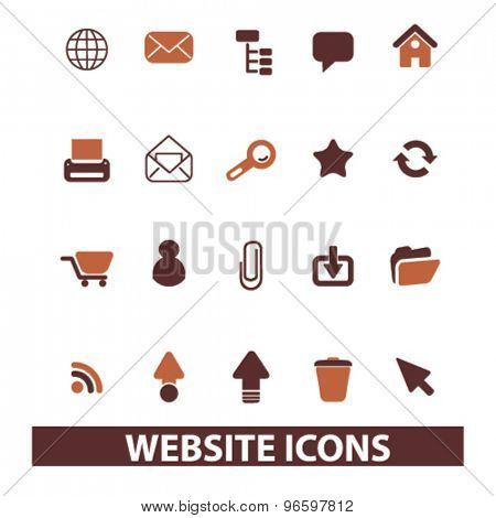 website, internet, page, web, site icons, signs, illustrations set, vector