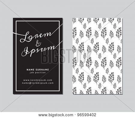 Modern design for business card, invitation or brochure