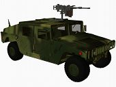 pic of humvee  - 3d computer render of an military hummer - JPG