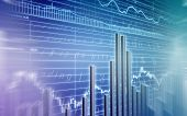 picture of stock market data  - 3d rendered illustration of a stock market - JPG