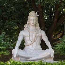 image of shiva  - Shiva statue in Rishikesh India Close up - JPG