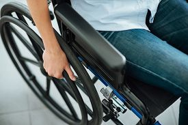 pic of handicapped  - Woman in wheelchair - JPG