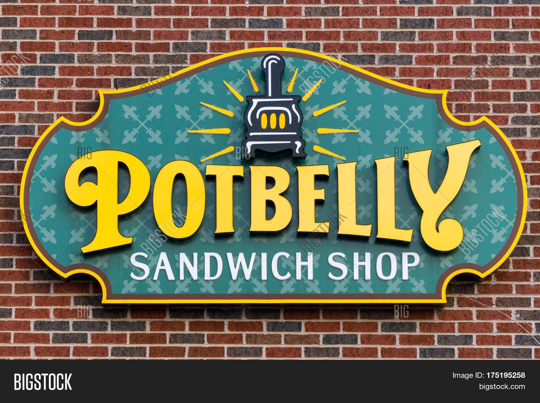 Potbelly Logo Pot Belly Sandwich Shop Sign Logo Image & Photo  Bigstock