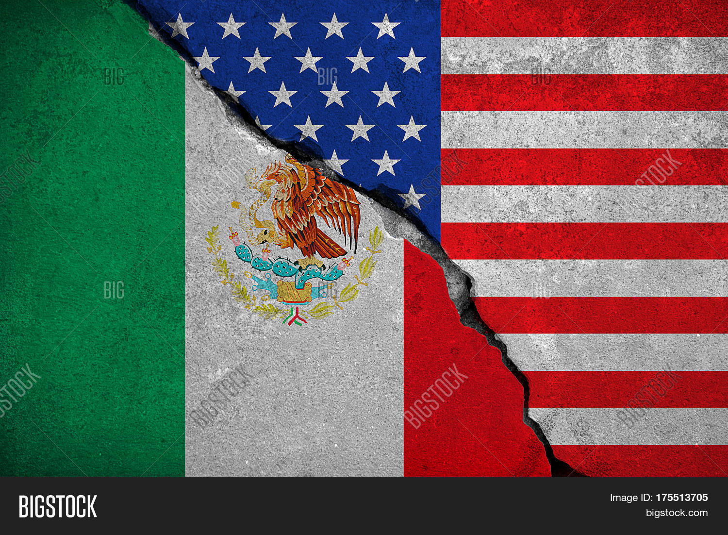 mexico flag on broken brick wall image u0026 photo bigstock