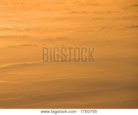 Ripples At Sunset Background