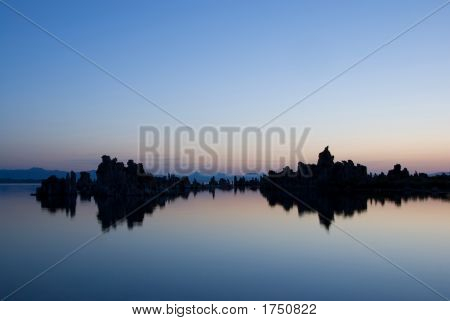 Dead Calm At Mono Lake, California