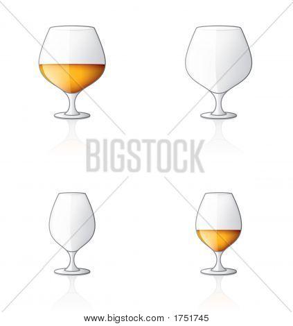 Glass Icon Set 60U, Brandy/Cogniac Sniffers