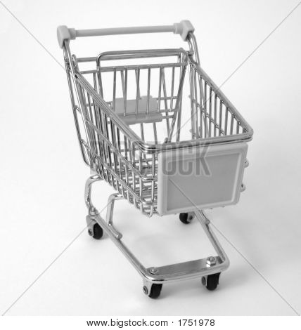 Supermarket Shopping Trolley (B&W)