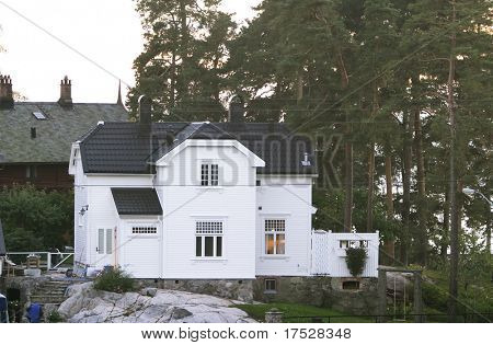 An old 1900's house in Nordstrand, Oslo, Norway