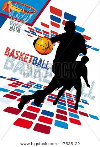 Basketball Players. Vector illustration sports series.